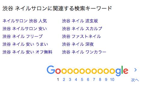 渋谷ネイルサロン関連ワード